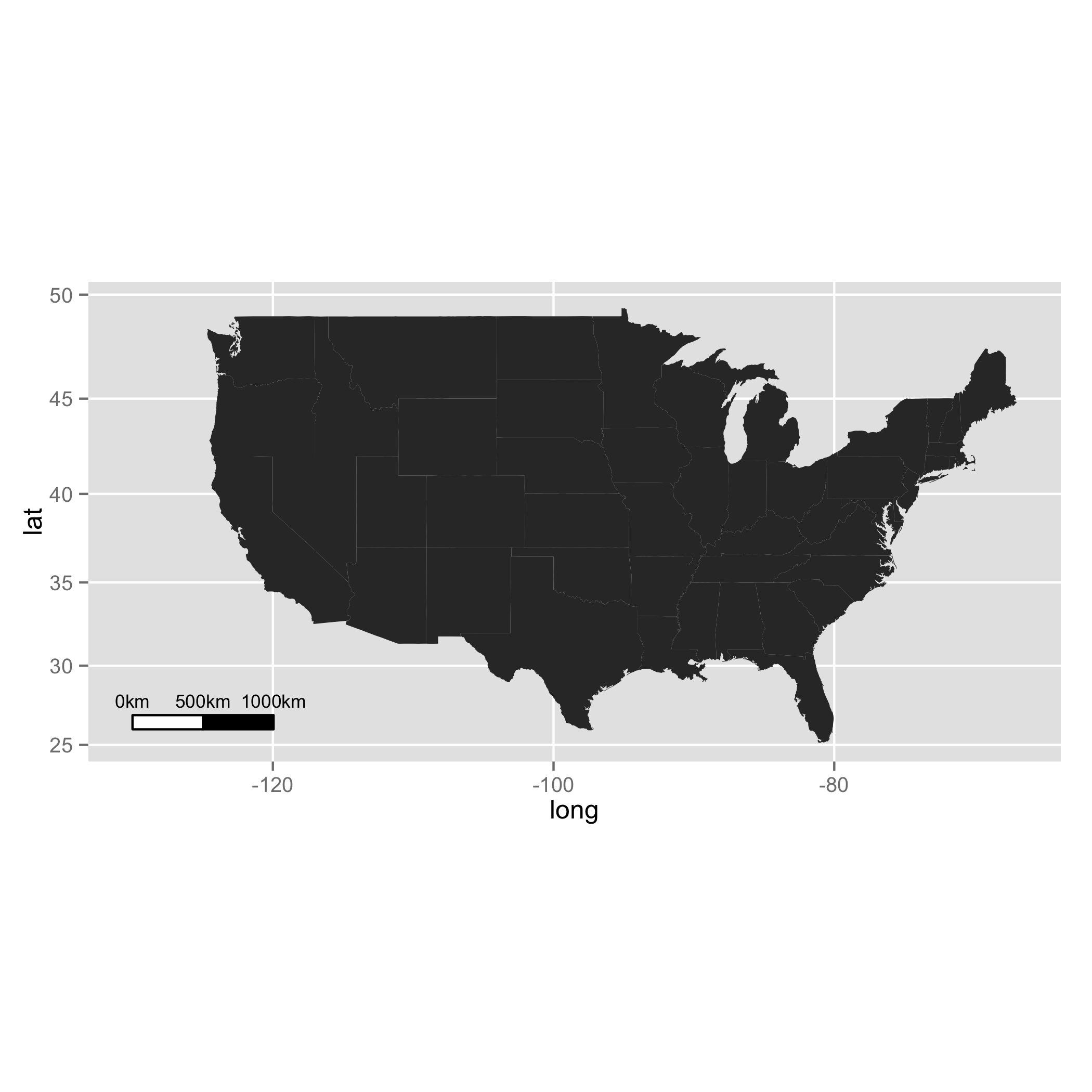 Scale bar and North arrow on a ggplot2 map using R – Ewen ...
