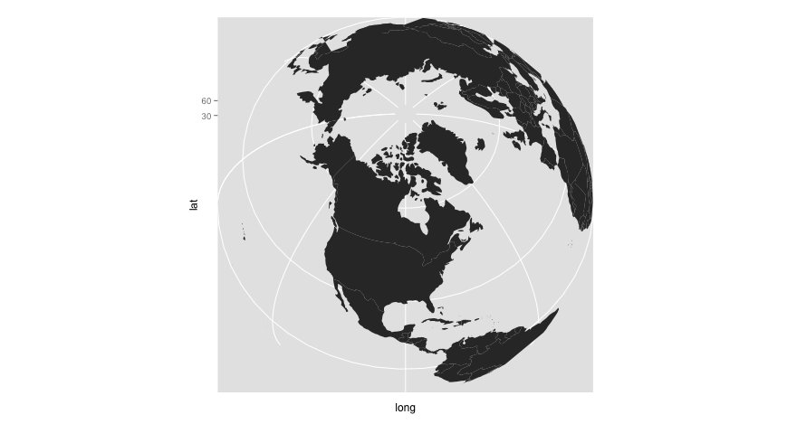 Spherical World Map.Urban Demographics Making A Spherical World Map With R