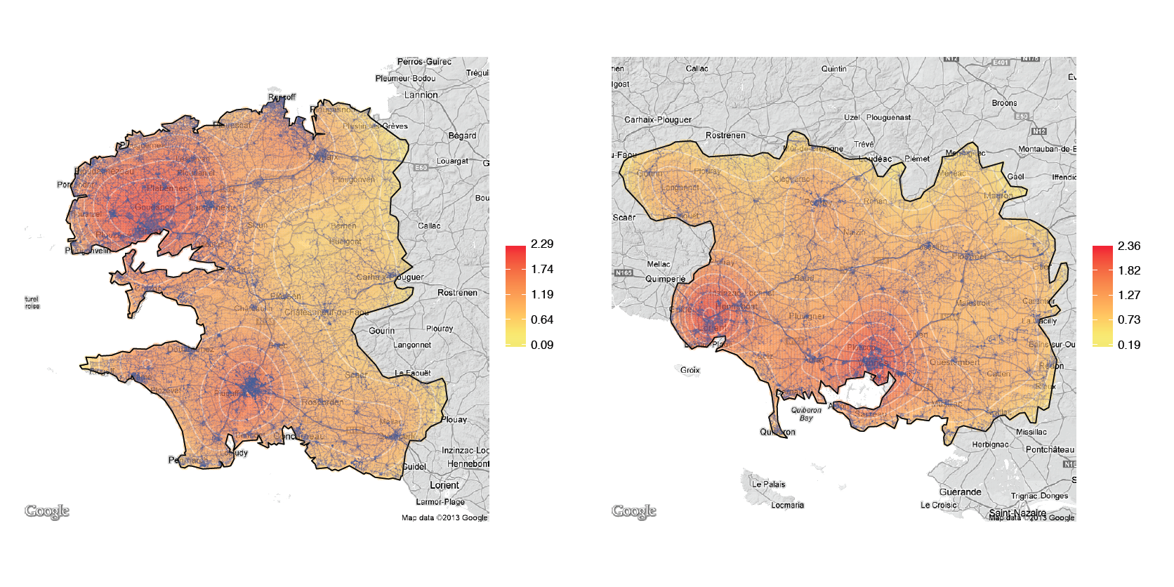 Visualizing densities of spatial processes – Ewen Gallic